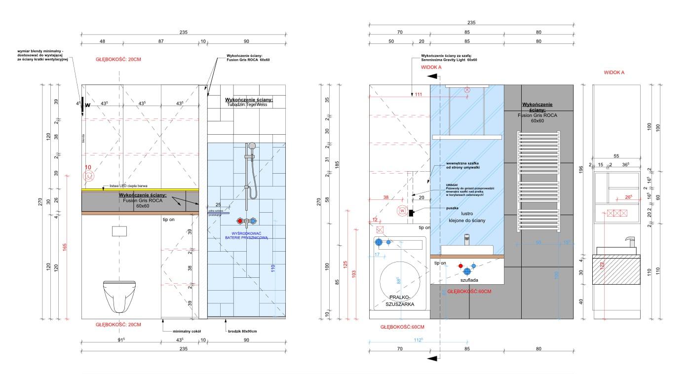 Projekt łazienkowy