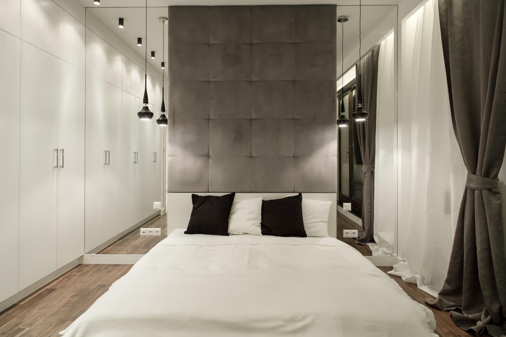 Sypialnia w awangardowej aranżacji