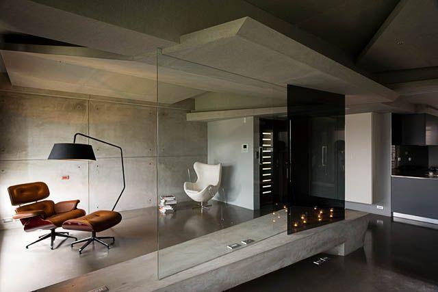 ciana-z-betonu-artystycznego Industrialny look czyli.....betonowe wnętrza
