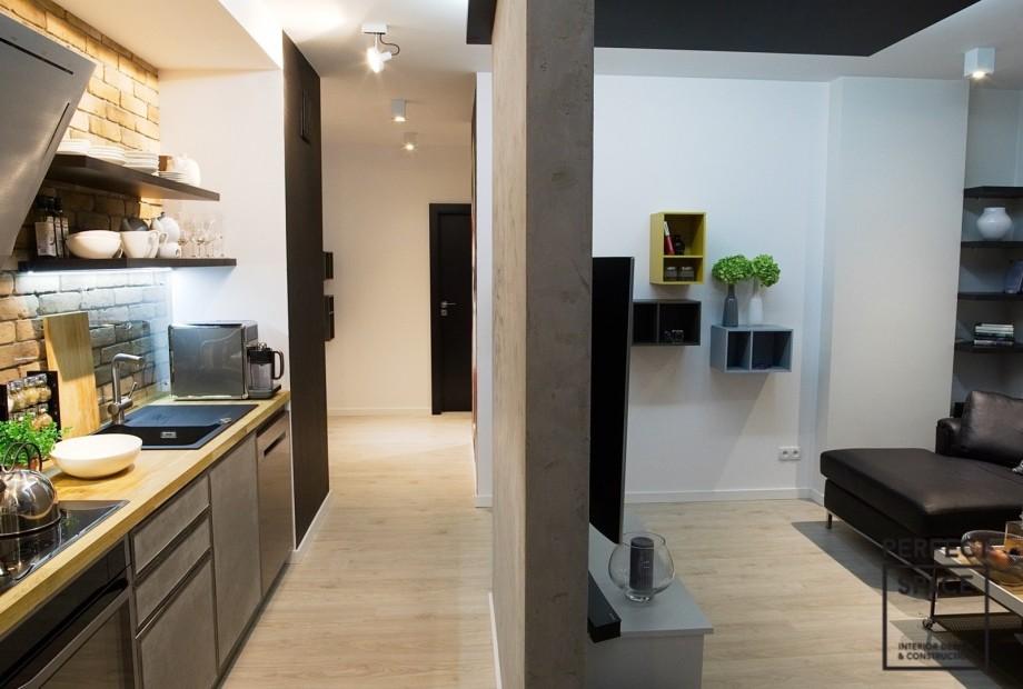 Aranzacja-kuchni-z-betonowymi-elementami Aranżacja wnętrz: zaproś beton do kuchni