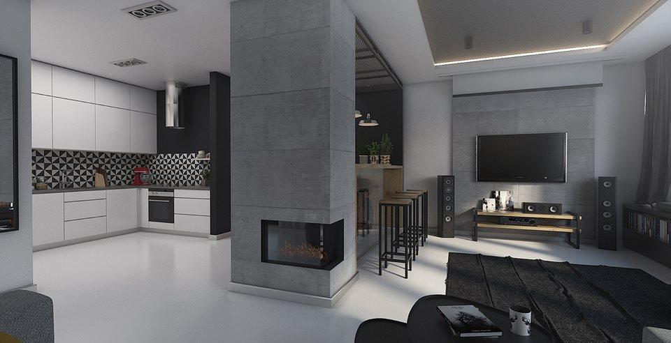 Perfect-Space-aranzacja-wnetrza-w-stylu-industrialnym Aranżacja wnętrz: 3 proste sposoby na industrialne wnętrze