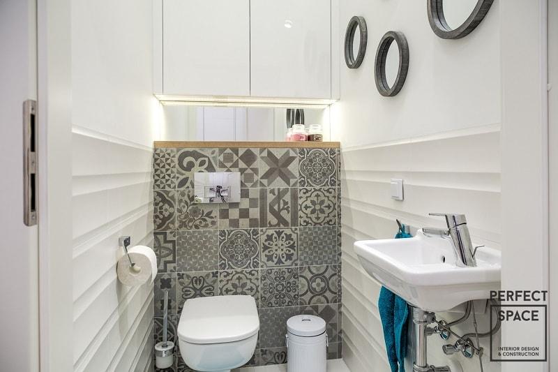 Urzadzone-wnetrze-toalety-w-nowoczesnym-stylu-bedacym-odzielnym-pomieszczeniem Urządzanie wnętrz: lepsza osobna toaleta czy razem z łazienką?