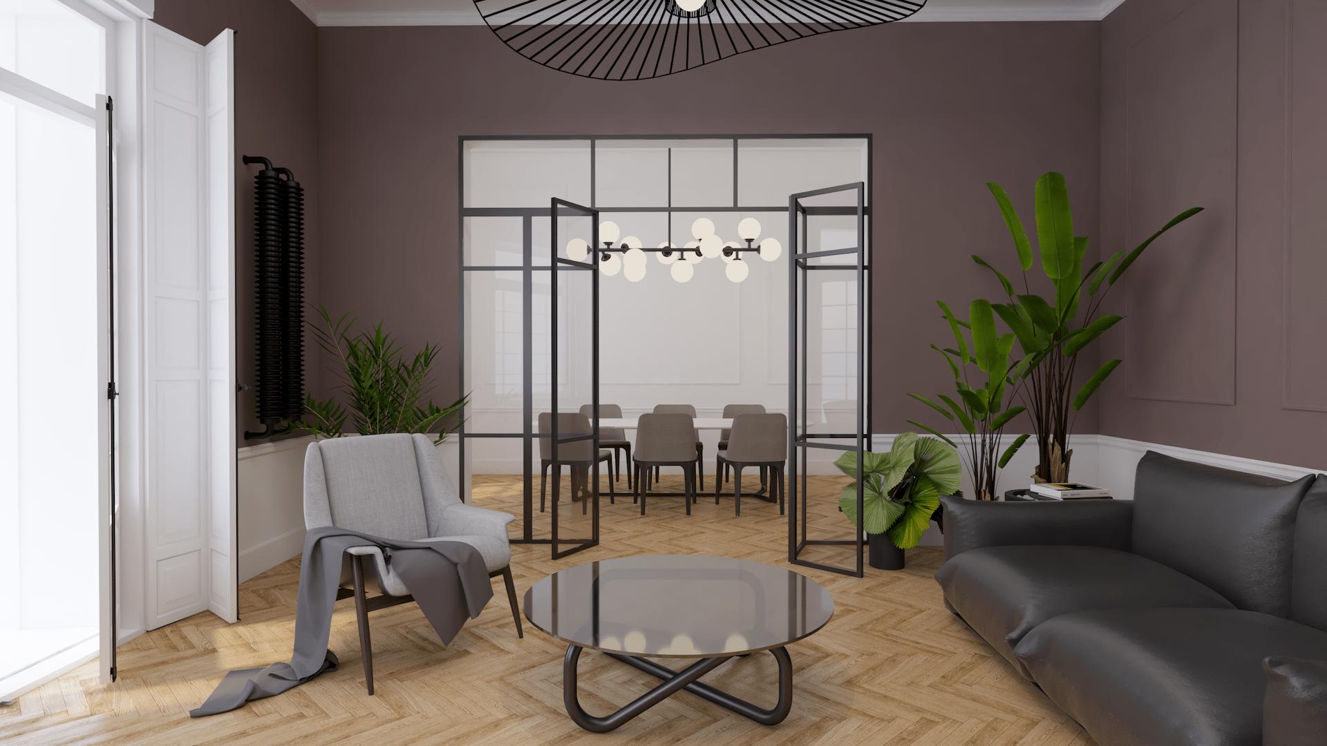 Szklana przestrzeń - wizualizacja Perfect Space